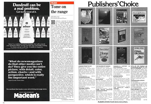 Article Preview: Tome on the range, November 1981 | Maclean's