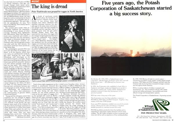 Article Preview: The king is dread, November 1981 | Maclean's