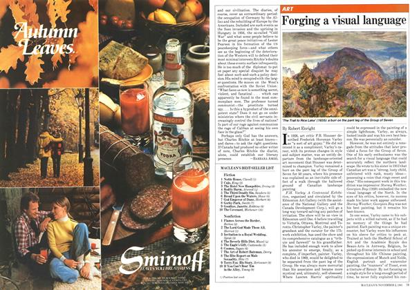 Article Preview: Forging a visual language, November 1981 | Maclean's