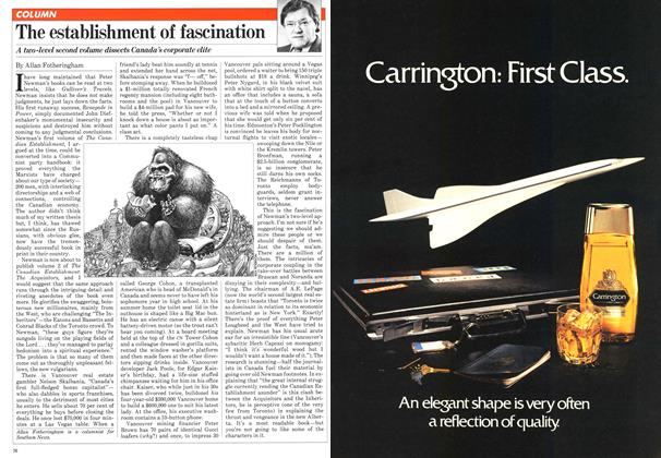 Article Preview: The establishment of fascination, November 1981 | Maclean's