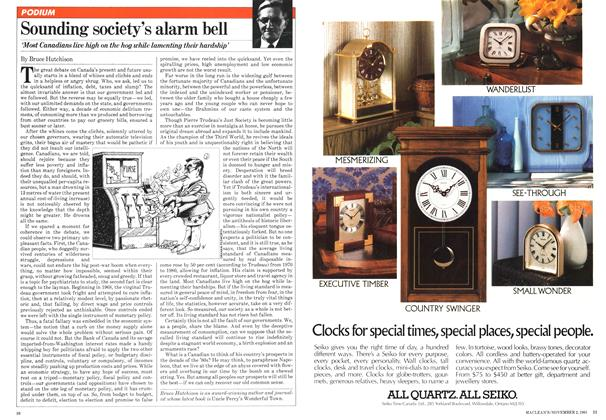 Article Preview: Sounding society's alarm bell, November 1981 | Maclean's