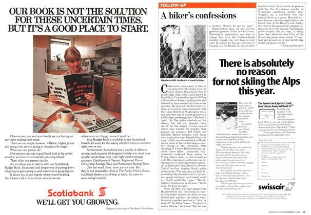 Article Preview: A biker's confessions, November 1981 | Maclean's