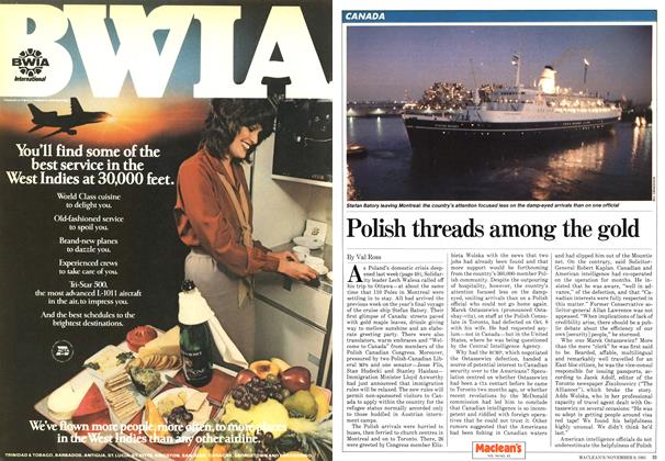 Article Preview: Polish threads among the gold, NOVEMBER 9,1981 1981 | Maclean's