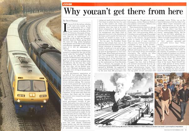 Article Preview: Why you can't get there from here, NOVEMBER 9,1981 1981 | Maclean's