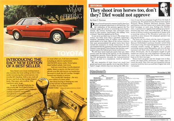 Article Preview: They shoot iron horses too, don't they? Dief would not approve, NOVEMBER 9,1981 1981 | Maclean's