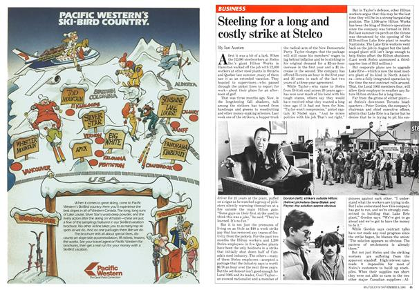 Article Preview: Steeling for a long and costly strike at Stelco, NOVEMBER 9,1981 1981   Maclean's