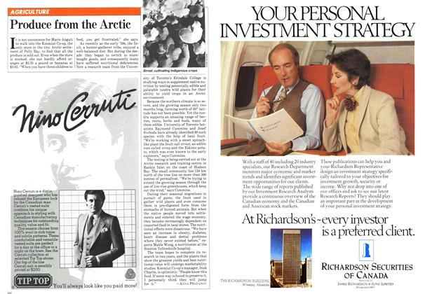Article Preview: Produce from the Arctic, NOVEMBER 9,1981 1981 | Maclean's