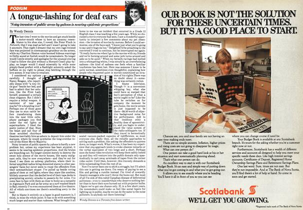 Article Preview: A tongue-lashing for deaf ears, NOVEMBER 9,1981 1981 | Maclean's