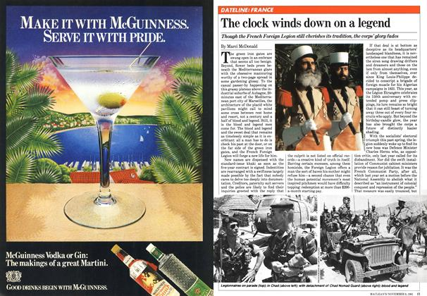 Article Preview: The clock winds down on a legend, NOVEMBER 9,1981 1981 | Maclean's