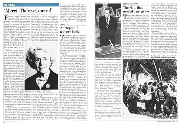 Article Preview: The riots that needed a program, November 1981   Maclean's