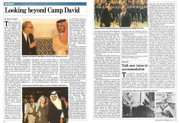 Article Preview: Looking beyond Camp David, November 1981 | Maclean's