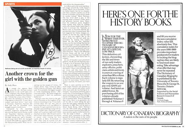Article Preview: Another crown for the girl with the golden gun, November 1981 | Maclean's