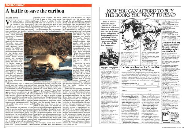 Article Preview: A battle to save the caribou, November 1981 | Maclean's