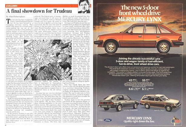 Article Preview: A final showdown for Trudeau, November 1981 | Maclean's