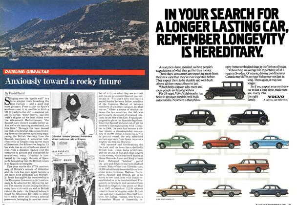 Article Preview: Anxiously toward a rocky future, November 1981 | Maclean's