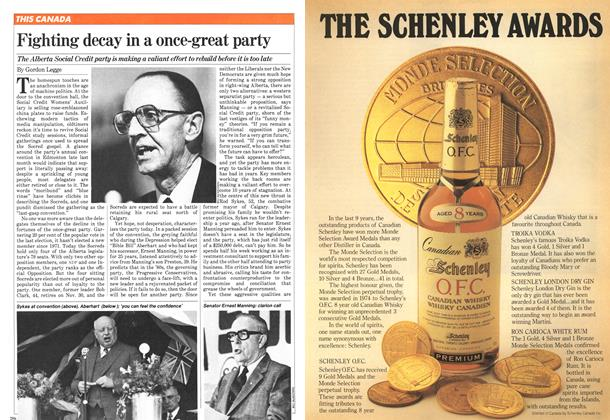 Article Preview: Fighting decay in a once-great party, November 1981 | Maclean's