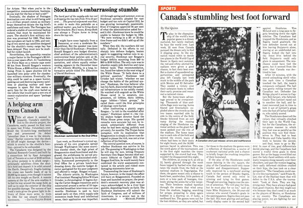 Article Preview: Stockman's embarrassing stumble, November 1981 | Maclean's