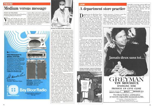 Article Preview: Medium versus message, November 1981   Maclean's