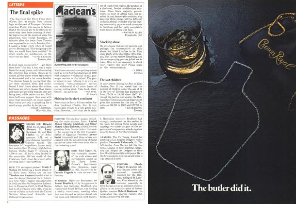 Article Preview: PASSAGES, November 1981 | Maclean's