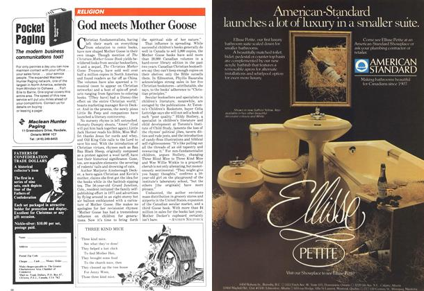 Article Preview: God meets Mother Goose, November 1981 | Maclean's