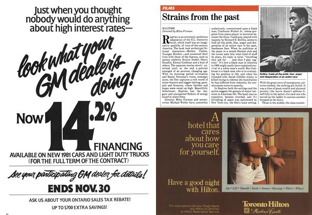 Article Preview: Strains from the past, November 1981 | Maclean's