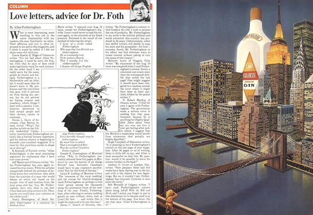 Article Preview: Love letters, advice for Dr. Foth, November 1981 | Maclean's