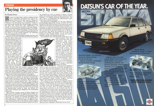 Article Preview: Playing the presidency by cue, November 1981 | Maclean's