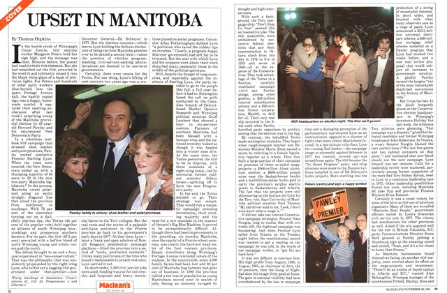 Article Preview: UPSET IN MANITOBA, November 1981 | Maclean's