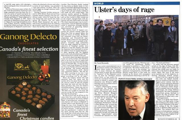 Article Preview: Ulster's days of rage, November 1981   Maclean's