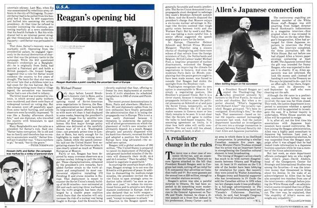 Article Preview: Allen's Japanese connection, November 1981   Maclean's