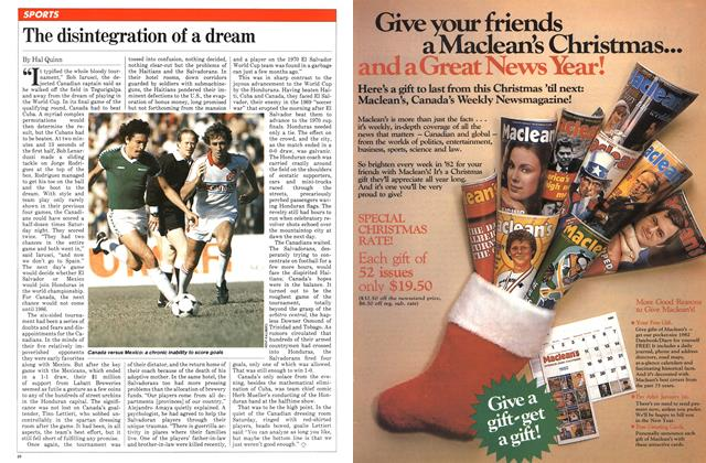 Article Preview: The disintegration of a dream, November 1981 | Maclean's