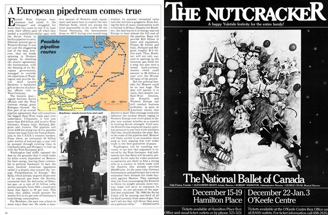 Article Preview: A European pipedream comes true, November 1981 | Maclean's