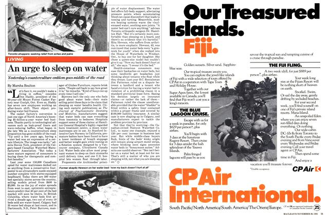 Article Preview: An urge to sleep on water, November 1981 | Maclean's