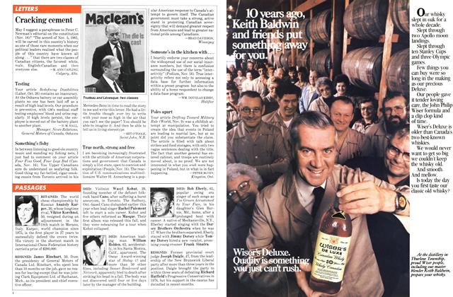 Article Preview: LETTERS, November 1981   Maclean's