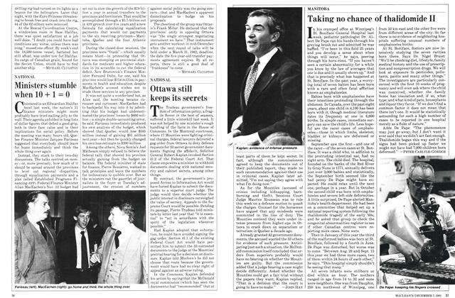Article Preview: Ottawa still keeps its secrets, December 1981 | Maclean's