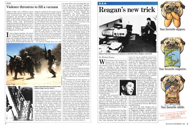 Article Preview: Reagan's new trick, December 1981 | Maclean's