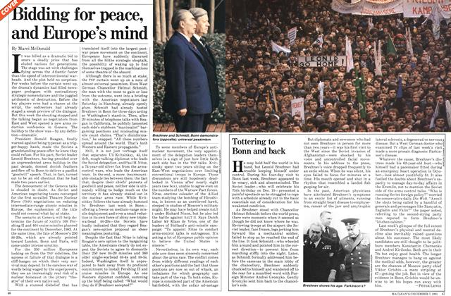 Article Preview: Bidding for peace, and Europe's mind, December 1981 | Maclean's