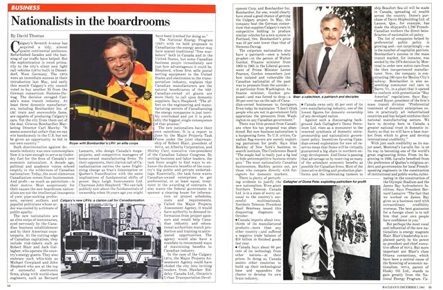 Article Preview: Nationalists in the boardrooms, December 1981 | Maclean's