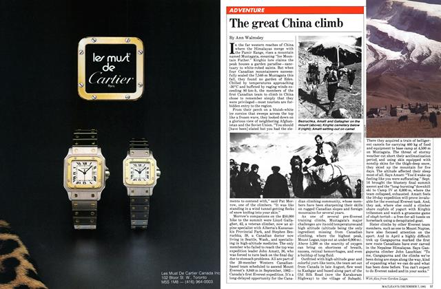 Article Preview: The great China climb, December 1981 | Maclean's