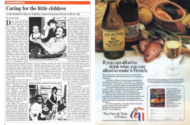 Article Preview: Caring for the little children, December 1981 | Maclean's