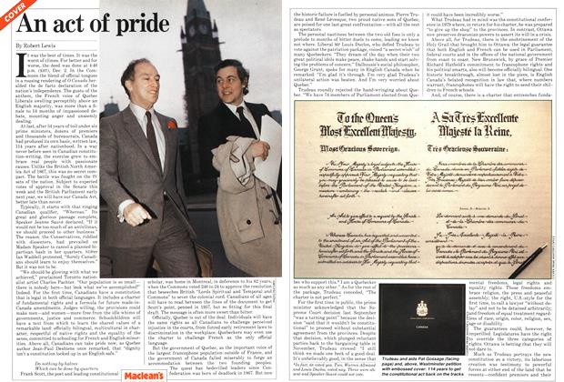 Article Preview: An act of pride, December 1981 | Maclean's