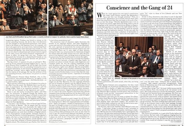 Article Preview: Conscience and the Gang of 24, December 1981   Maclean's