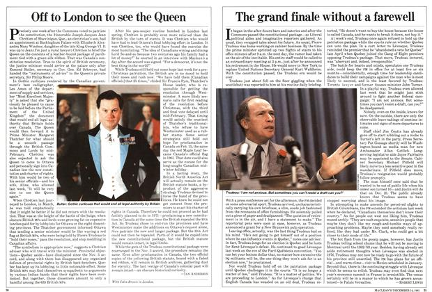 Article Preview: The grand finale without a farewell, December 1981 | Maclean's