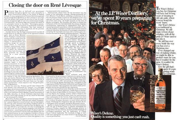 Article Preview: Closing the door on René Lévesque, December 1981 | Maclean's