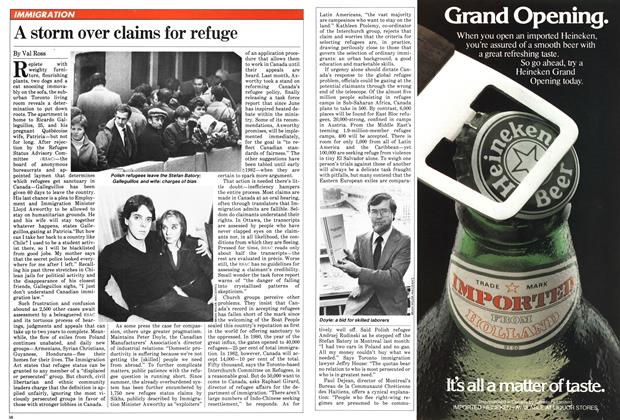Article Preview: A storm over claims for refuge, December 1981 | Maclean's