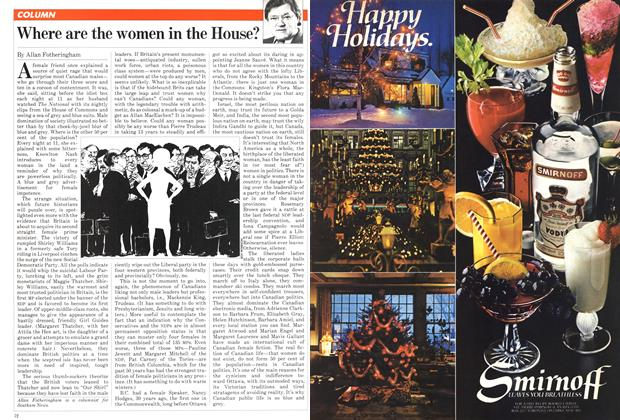 Article Preview: Where are the women in the House?, December 1981 | Maclean's