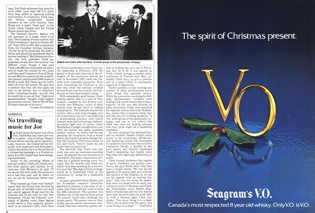 Article Preview: No travelling music for Joe, December 1981 | Maclean's