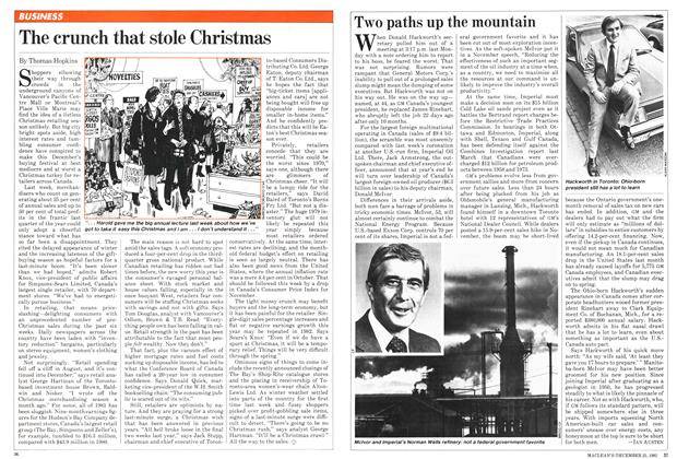 Article Preview: Two paths up the mountain, December 1981 | Maclean's
