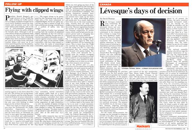 Article Preview: Lévesque's days of decision, December 1981 | Maclean's