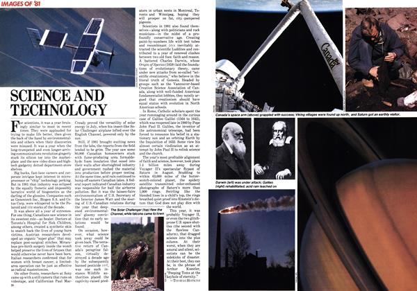 Article Preview: SCIENCE AND TECHNOLOGY, December 1981 | Maclean's